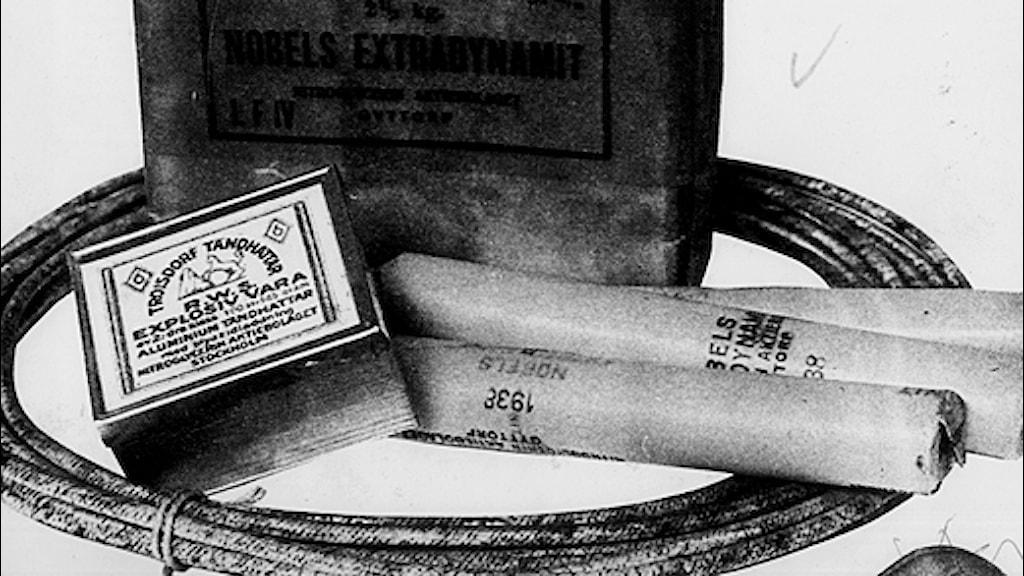 Dynamit - Alfred Nobels uppfinning. Foto: Scanpix
