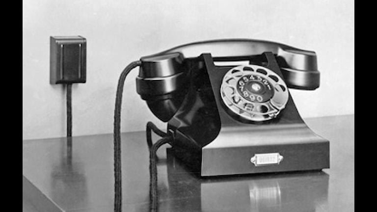 Telefon. Foto: SVT Bild.
