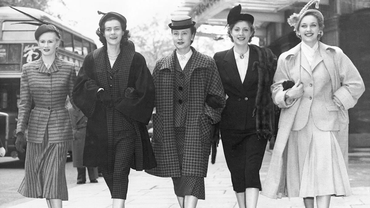 Mode i London 1951. SVT Bild.