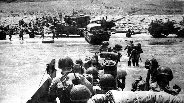De allierades landstigning i Normandie D-dagen den 6 juni 1944./SVT Bild