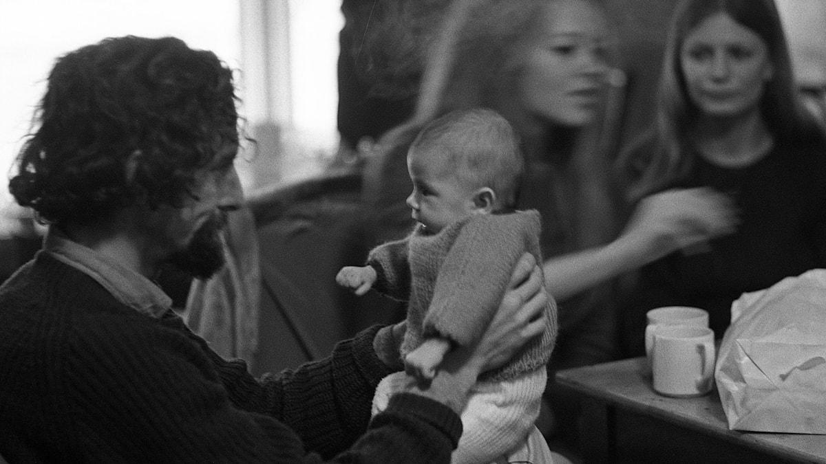 Pappa och barn 1967./SVT Bild