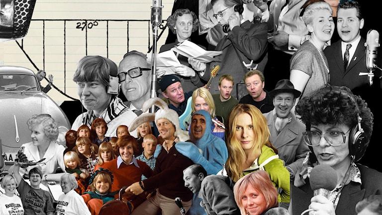 90 år med Sveriges Radio. Bildcollage: Sveriges Radio.