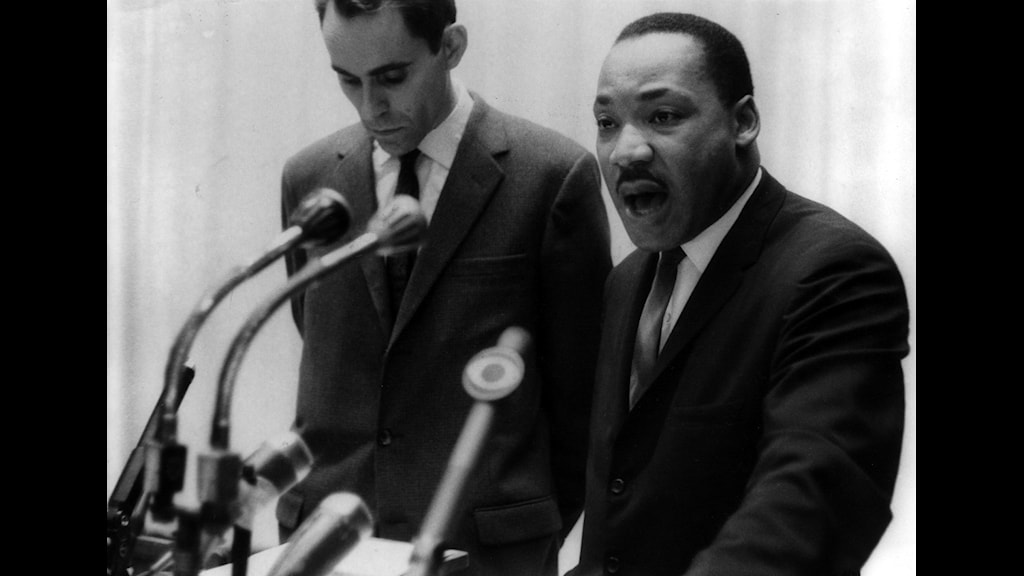 Nobelpristagaren Martin Luther King 1964, SVT Bild