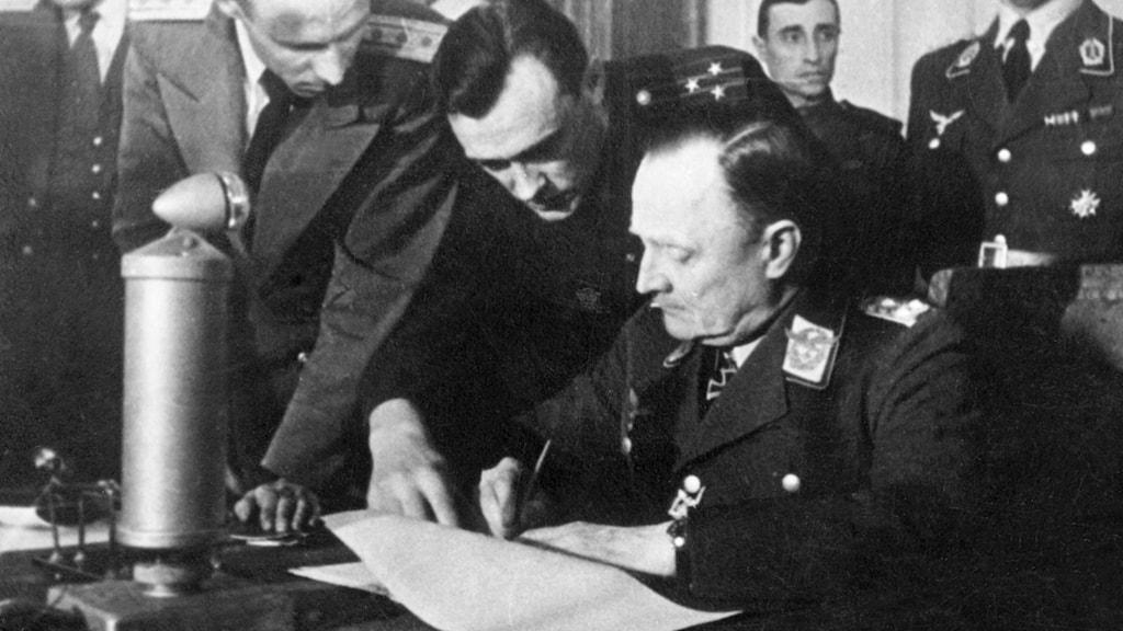 Tyskland kapitulerar den 8 maj 1945./SVT Bild