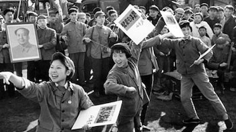 Propagandamöte i början av kulturevolutionen 1967. Foto: Svt Bild