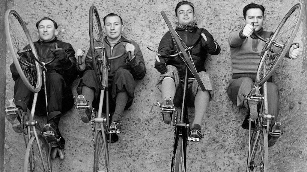 Amerikanska elitcyklister 1937./SVT Bild