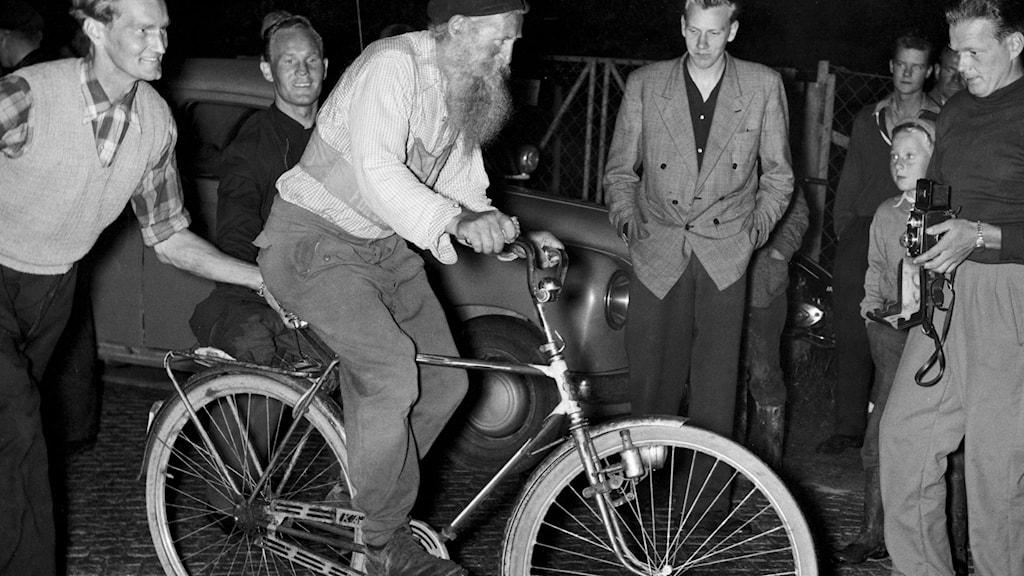 Stålfarfar passerar Göteborg på sin väg mellan Haparanda och Ystad 1951./SVT Bild