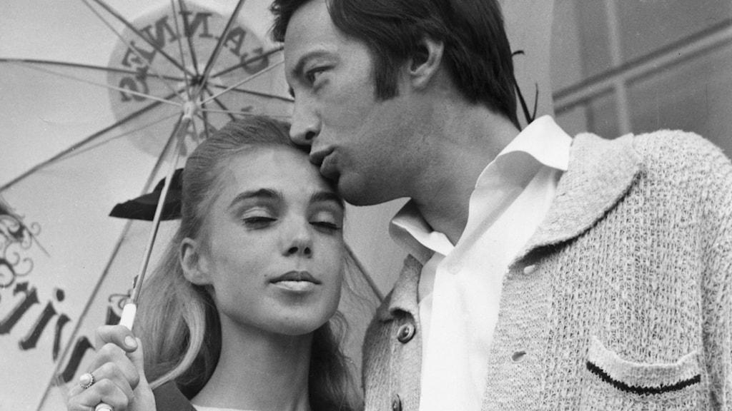 Pia Degermark och Thommy Berggren i Cannes 1967./SVT Bild
