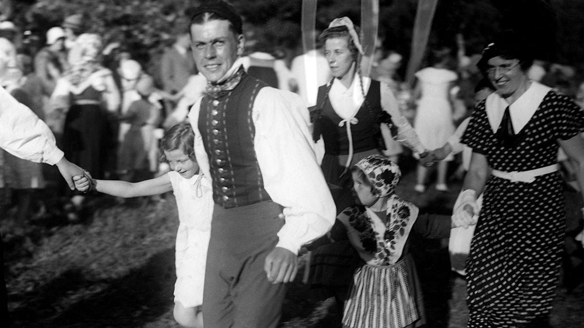 Midsommarfirande 1939. SVT Bild