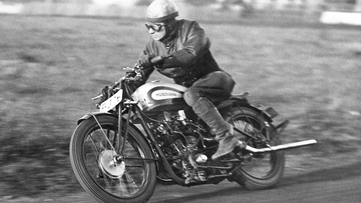 Motorcykelförare. SVT Bild.