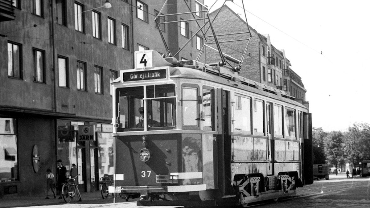 Spårvagn. SVT Bild.