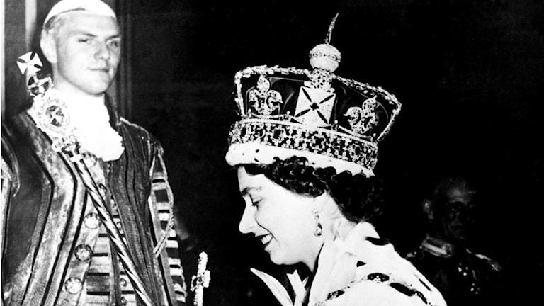 Drottning Elizabeth. TT Nyhetsbyrån.