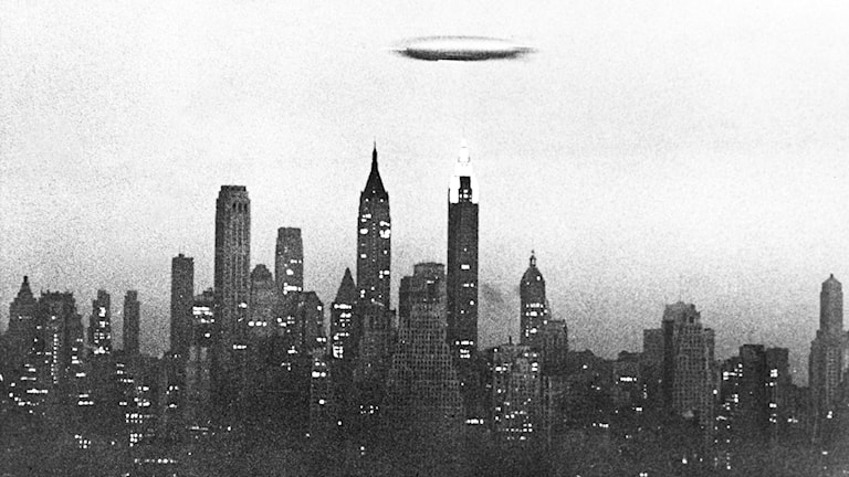 Luftskeppet Hindenburg. SVT Bild.