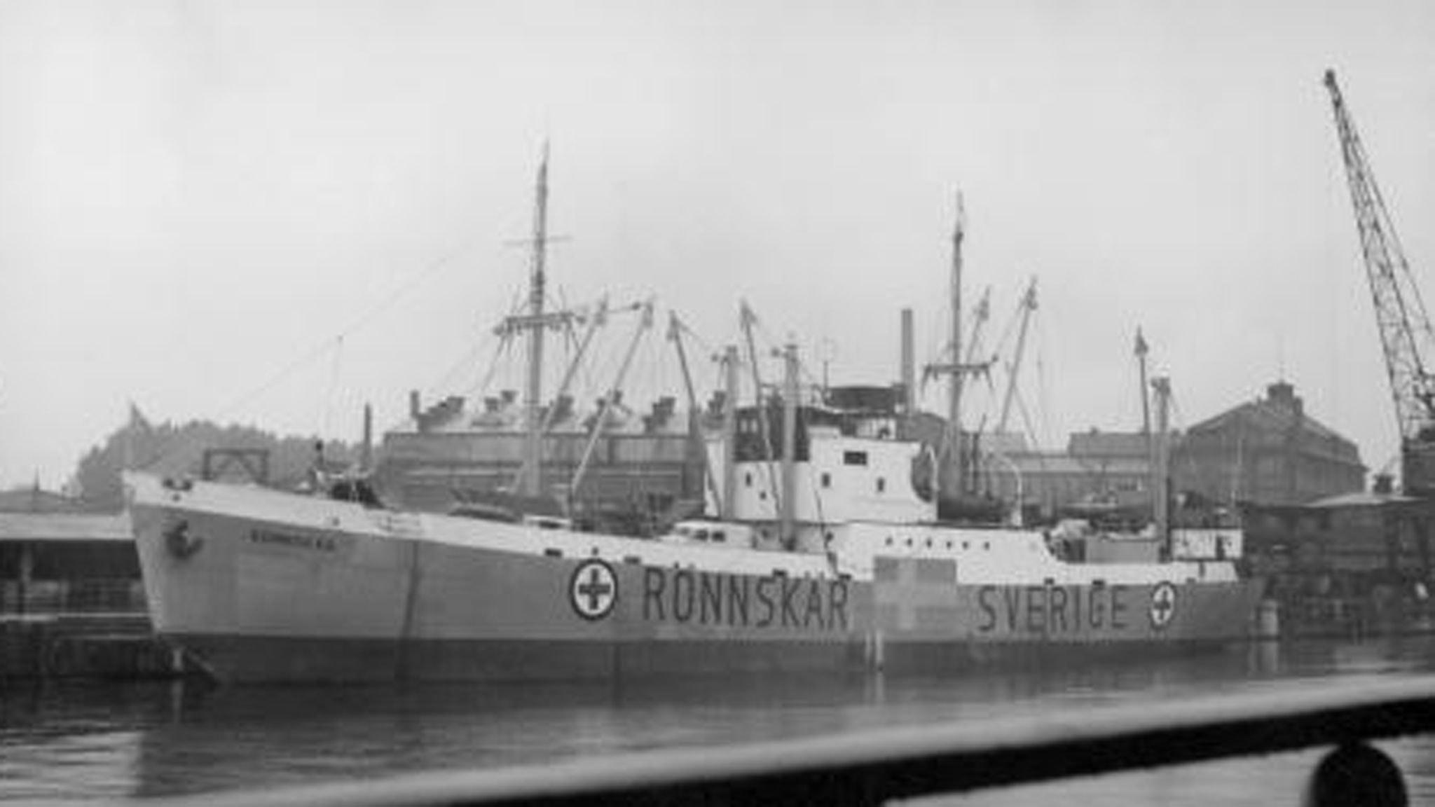 Lasarettfartyget Rönnskär. SVT Bild.