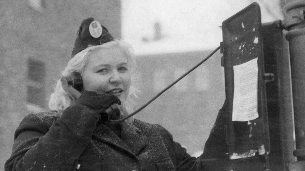 Kvinnlig taxichaufför. SVT Bild.