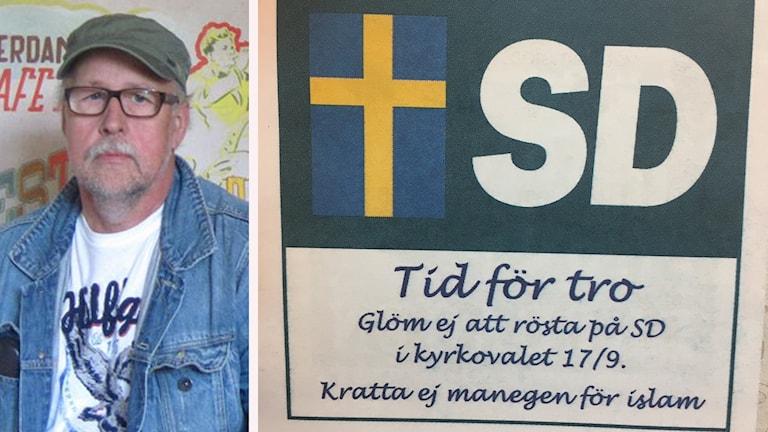 Benny Rosengren och en bild från annonsen