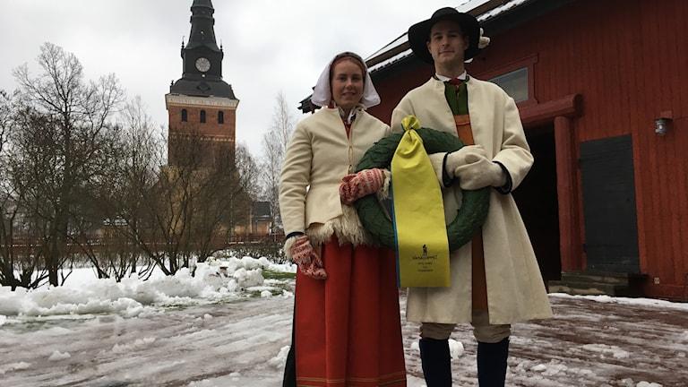 Sara Wadman och Joakim Kullberg är årets kranskulla och kransmas.