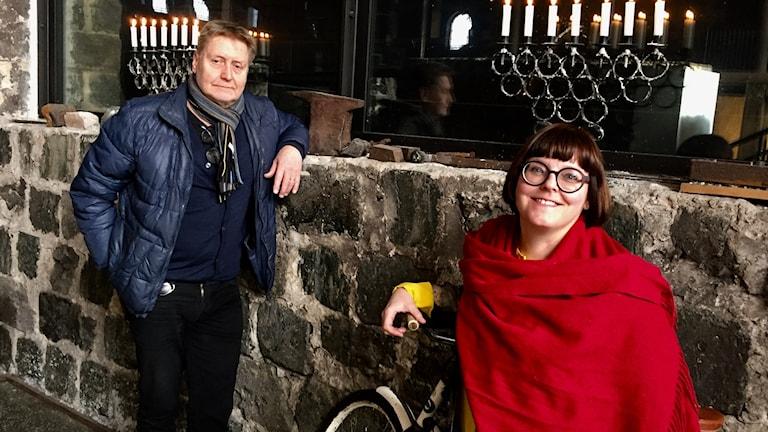 Kenneth Linder, enhetschef, och Linda Wallenberg, curator på Verket.
