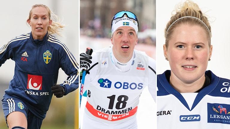 Julia Roddar, Calle Halfvarsson och Emma Lind