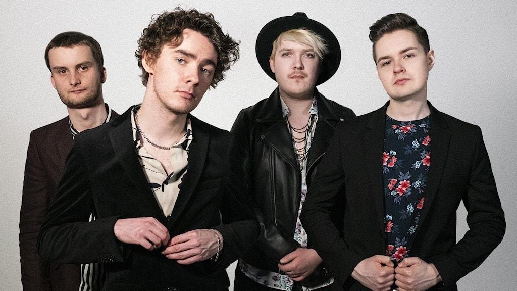 Bandet Post Poem som tävlar i dalafinalen av P4 Nästa.
