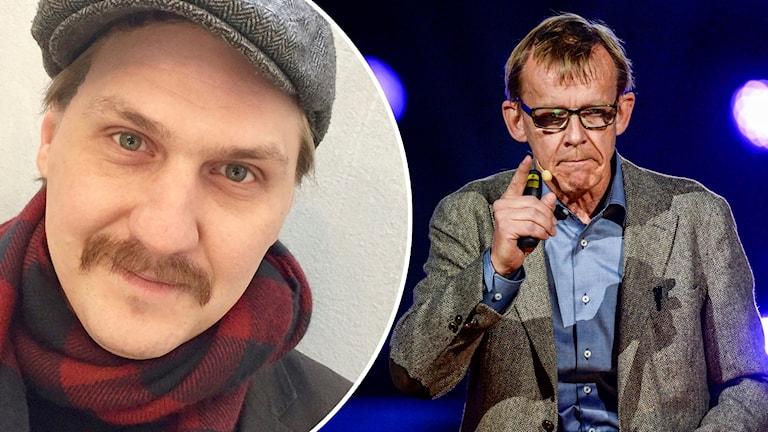 Montage av Mika Olavi och Hans Rosling.
