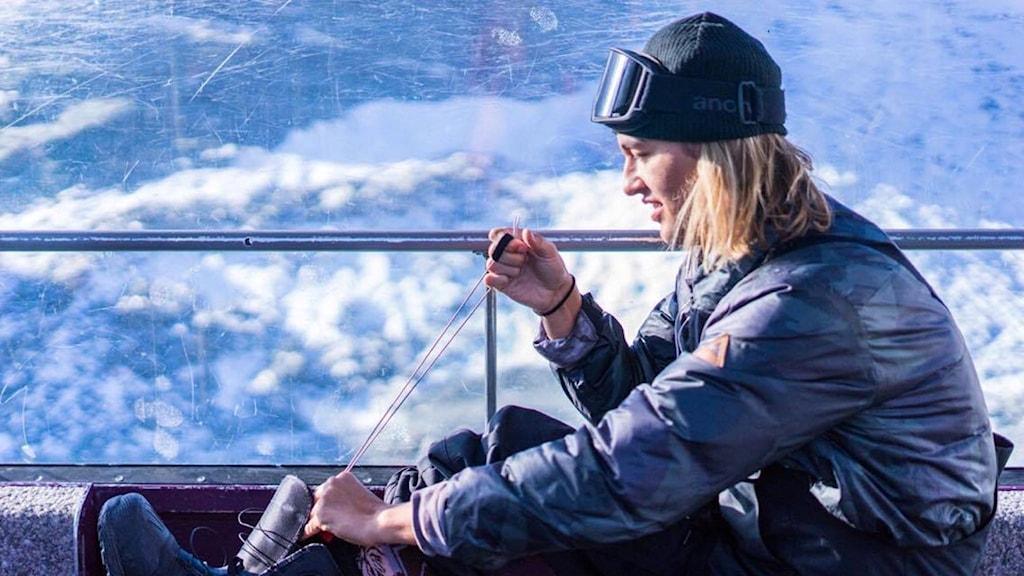 Snowboardåkaren Anthon Bosch i Sälen satsar på att komma till OS