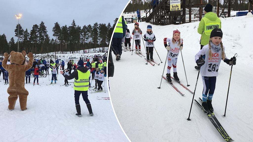 Barn på skidor