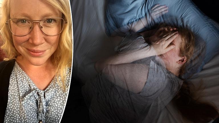 Anna Hertzberg i Falun och en person som har problem att somna.