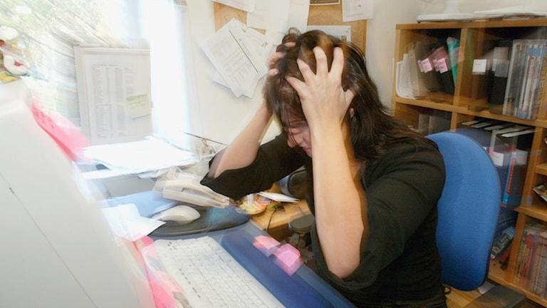 Efter finanskrisen på 90-talet har stress blivit allt vanligare. Foto: Bertil Ericson/Scanpix.