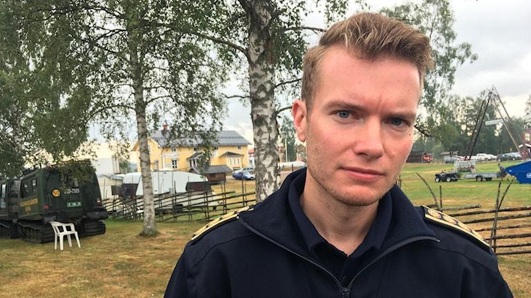 Johan Szymanski, räddningsledare för skogsbranden norr om Trängslet i Älvdalens kommun.