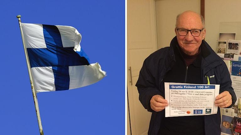 Finska flaggan, Ivar Josefsson från föreningen Norden i Hedemora