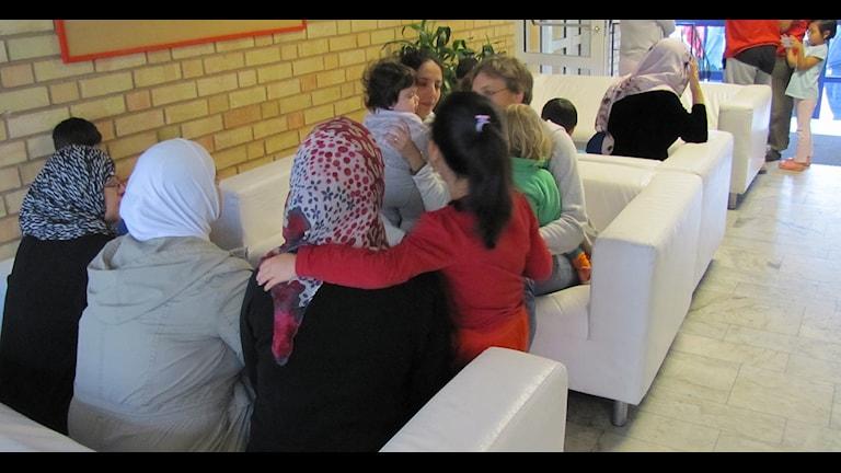 Flera av de asylsökande på Top Lugnet i Falun
