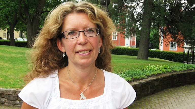 Lena Reyier, C, föreslår fler vårdcentraler på landsbygden. Foto: Johannes Rosendahl / Sveriges Radio.