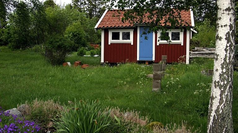 Röd liten stuga. Foto Hasse Holmberg, Scanpix.