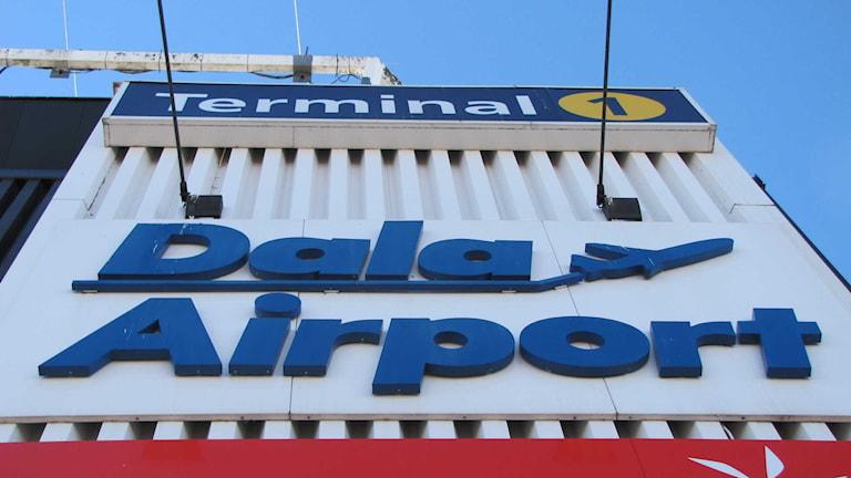 Bilden visar logotypen för Dala Airport.
