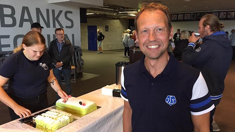 Andreas Hedbom, VD för Leksands IF som firar hundra år i år.