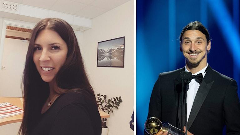Johanna Hedström och Zlatan Ibrahimović