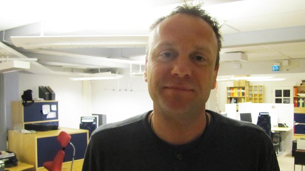 Jonas Björkgren, tränare för Kvarnsvedens IK.