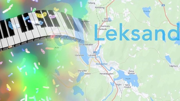 Ett piano och Leksands karta