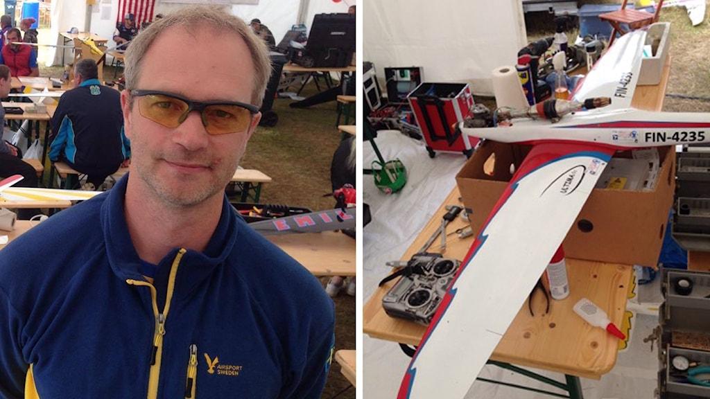 Thomas Eriksson och hans modellflyg