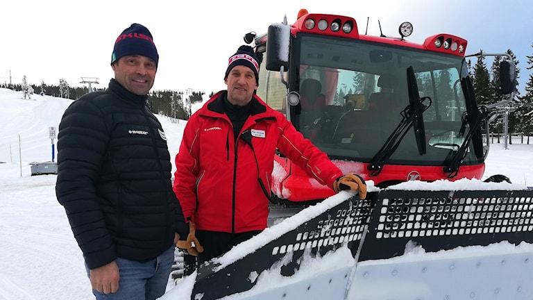 Per Granås, driftchef, och Jonas Bauer, destinationschef Skistar.