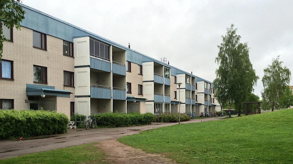 Innergård och bostäder på Tjärna ängar i Borlänge.