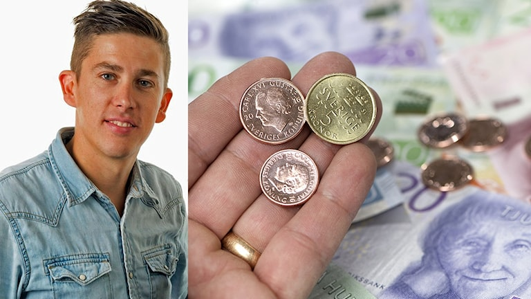Bild på Lars Svans samt pengar