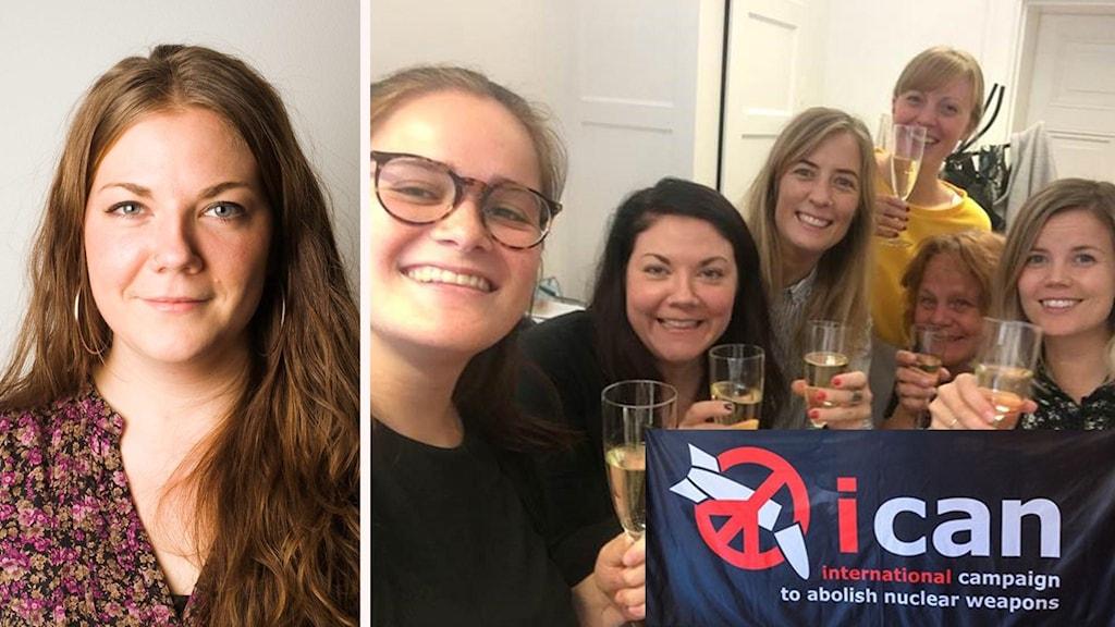 Elin Liss och hennes kollegor firar att ICAN fick Nobels fredspris