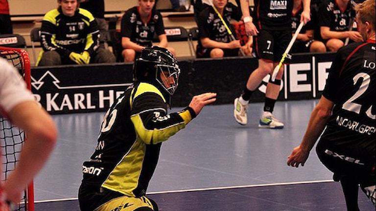 Med fokus på försvaret fick Johan Rehn i Falumålet visa prov på vilken tillgång han är. Foto: Emil Holmgren
