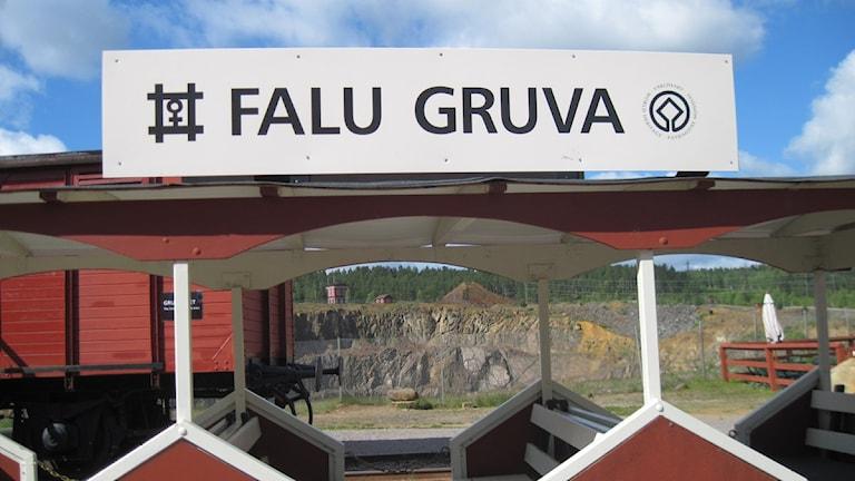 Sedan är man tillbaka vid Falu Gruva igen. Foto: Lotta Rydén.