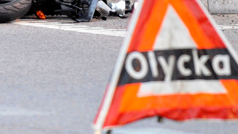Mc-olycka utanför Ludvika. Foto: Scanpix.