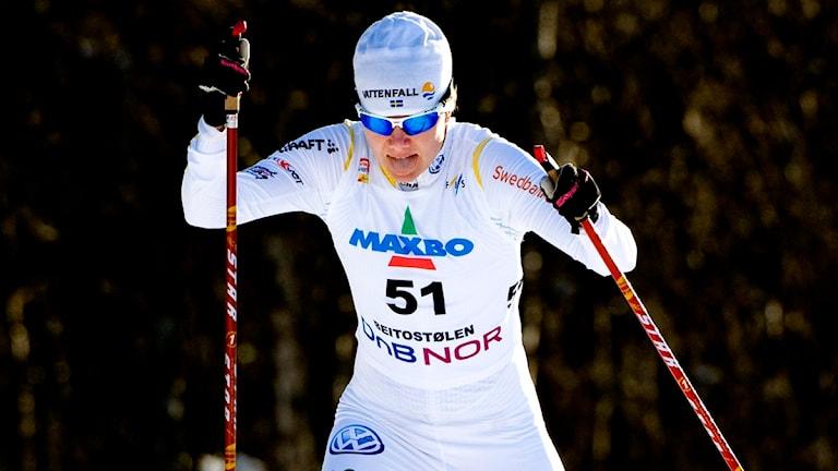 Sara Lindborg (här i en annan tävling). Foto: Pontus Lundahl/Scanpix