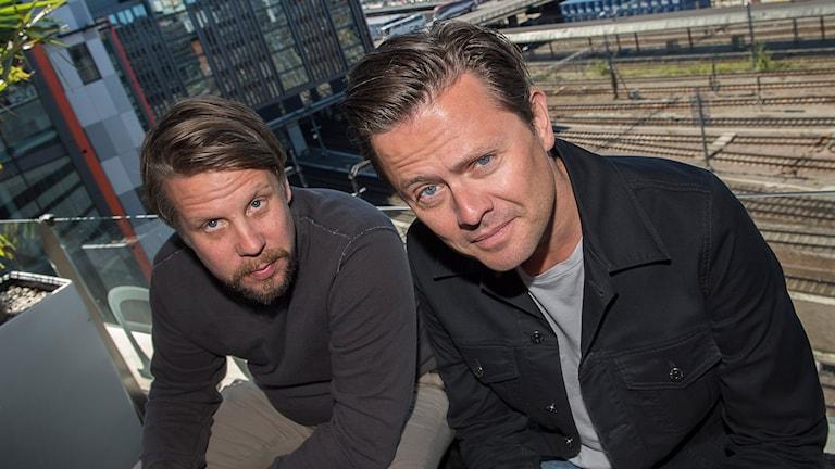 Programledarduon Filip Hammar och Fredrik Wikingsson