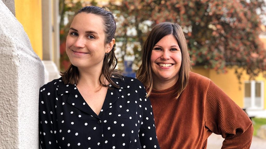 Emma Hulander och Hanna Embretsen, programledare på P4 Dalarna.